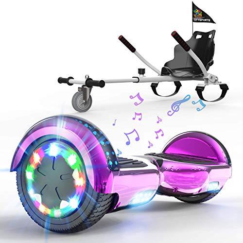 HITWAY Hoverboard mit Sitz, Hoverkart komplett für Kinder, Elektro Scooter Go-Kart mit Bluetooth und...