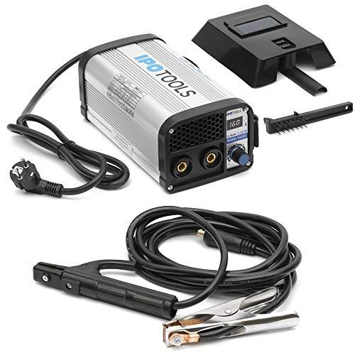 IPOTOOLS MMA-160R Elektroden Schweißgerät - IGBT Inverter Schweissgerät MMA/E-Hand mit 160 Amper/Digitale...