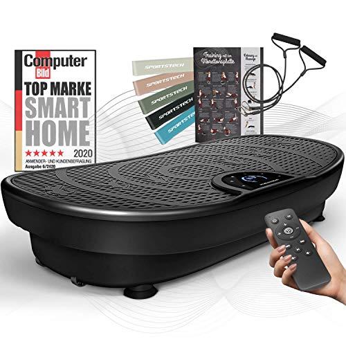Sportstech Messeneuheit! Vibrationsplatte VP250 im edlen Curved Slim Design | Fettverbrennung & Muskelaufbau |...