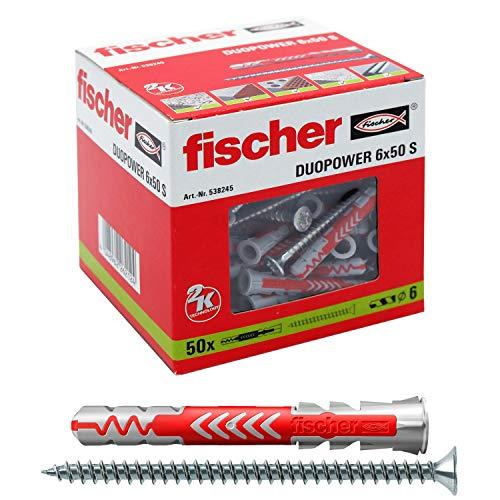 fischer 538245 DUOPOWER 6x50 S, grau/rot