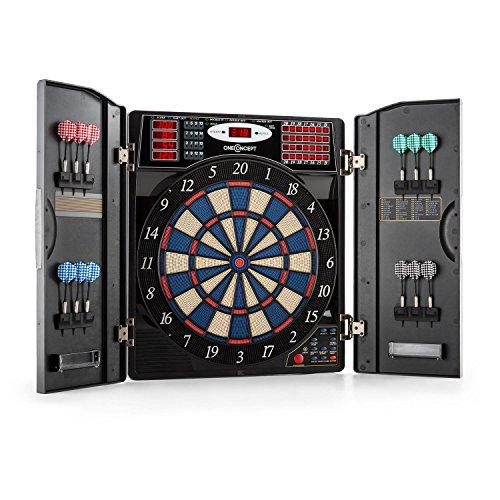 OneConcept Masterdarter - Dartautomat, elektronische Dartscheibe, E-Darts, Spielcomputer, 38 Verschiedene...