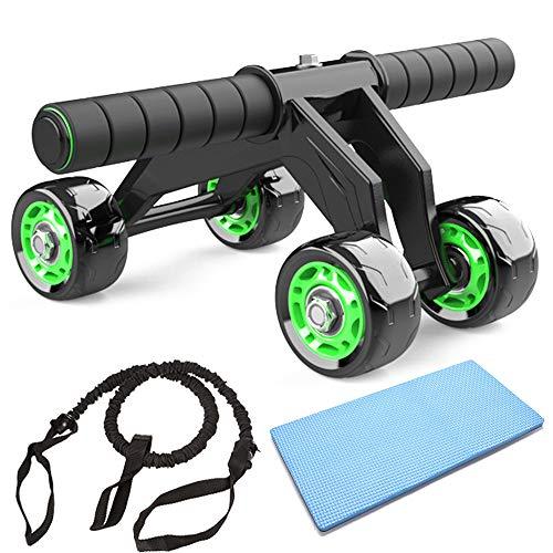 JuguHoovi AB Roller Bauchtrainer, Abdominal Roller Ab-Wheel Bauchmuskeltrainer,4 Rad Kraftrad Fitness Set für...