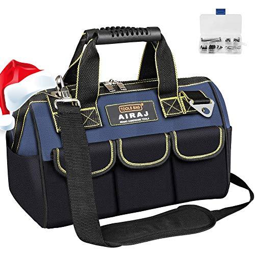 AIRAJ 36 * 21 * 26CM Werkzeugtasche, wasserdichte Werkzeugtasche mit verstellbarem Schultergurt,...