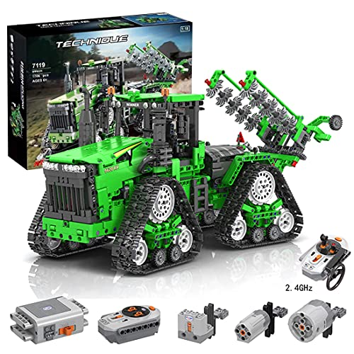 Myste Technik Traktor Ferngesteuert mit 3 Motoren & Allrad-Crawler Traktor für John Deere 9620 RX, 1706 Teile...