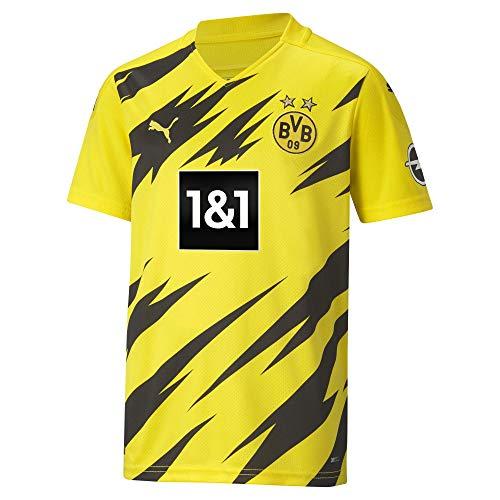 PUMA BVB Home Trikot Replica 20/21 T-Shirt, Cyber Yellow Black, 176