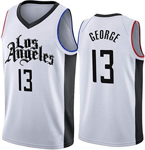 WSUN NBA Herren Trikot, LA Clippers 13# Paul George Basketball Trikot, Cooles Atmungsaktives Basketball Fan...