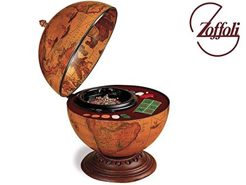 Zoffoli Globus Bar Roulette Globusbar 40x50cm 3,6kg 'Hergestellt in Italien' mit Echtheitszertifikat / Bar...