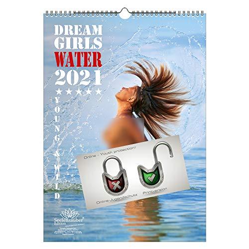 Sexy Water Girls DIN A3 Kalender für 2021 Erotik - Seelenzauber
