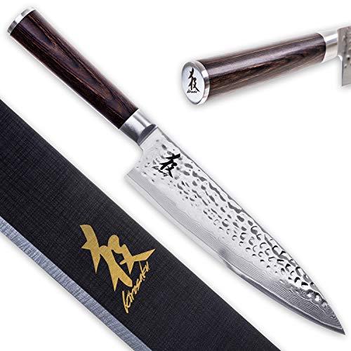 Kirosaku Premium Damastmesser 20cm – Enorm scharfes Küchenmesser aus hochwertigen Damaszener Stahl, um...