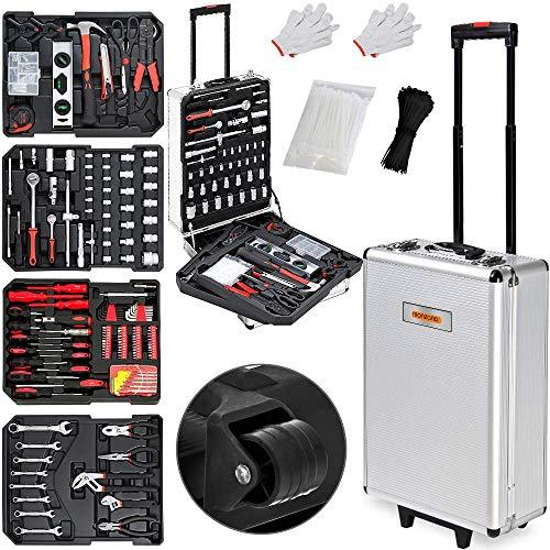 Monzana Werkzeugkoffer XXL gefüllt Set 899tlg Qualitätswerkzeug Werkzeugkasten Werkzeugkiste Werkzeugtrolley...