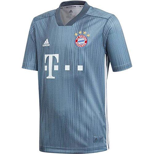 adidas Kinder Trikot 18/19 FC Bayern 3rd, raw Steel/Utility Blue/White, 152, DP5451