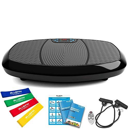 Bluefin Fitness Dual-Motor 3D Vibrationsplatte | Extra Große Anti-Rutsch-Oberfläche | Bluetooth Lautsprecher...