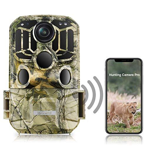 TOGUARD WLAN Wildkamera 20MP 1296P Video Jagdkamera mit Bewegungsmelder Nachtsicht 120 ° Weitwinkel IP66...