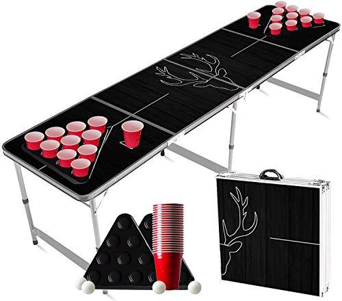 Offizieller Deer Beer Pong Tisch Set | Full Beer Pong Pack | Inkl. 1 Beer Pong Tisch + 2 Beer Pong Rack + 22...