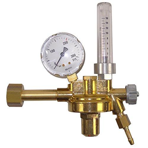Gase Dopp Druckminderer Argon 200bar mit Flowmeter - deutsches Produkt