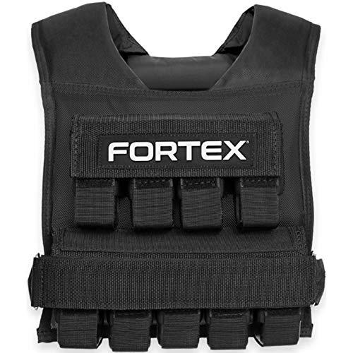 Fortex Gewichtsweste 10kg in schwarz | Trainingsweste Fitnessweste Laufweste