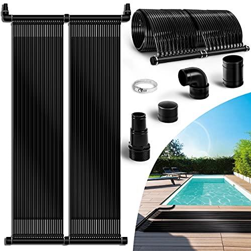 tillvex Pool Solarkollektor Set 76 x 600 cm | Solarheizung umweltfreundliches Erhitzen | Poolheizung...