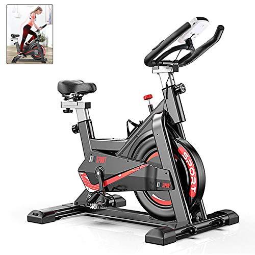 Heimtrainer Fahrrad, AJUMKER Fitnessfahrrad Indoor Hometrainer stufenlose Widerstandseinstellung mit...