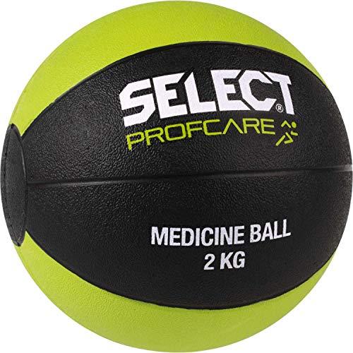 Select Medizinball-2605002141 Medizinball, schwarz Gruen, 2 kg
