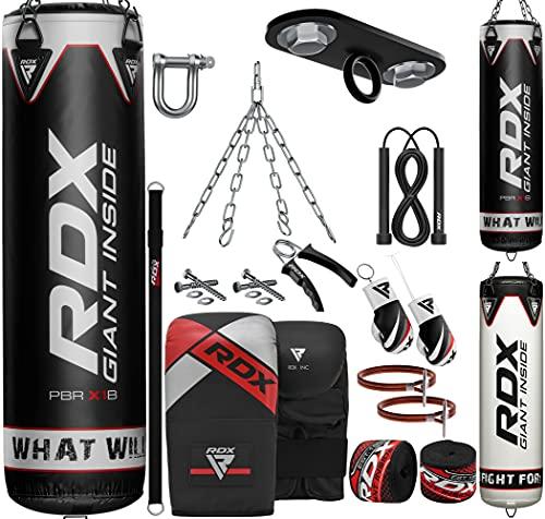 RDX 13PC Boxsack 5ft 4ft und Boxhandschuhe Set, Gefüllt Erwachsene Sack mit Deckenhaken, Kette für Boxen,...