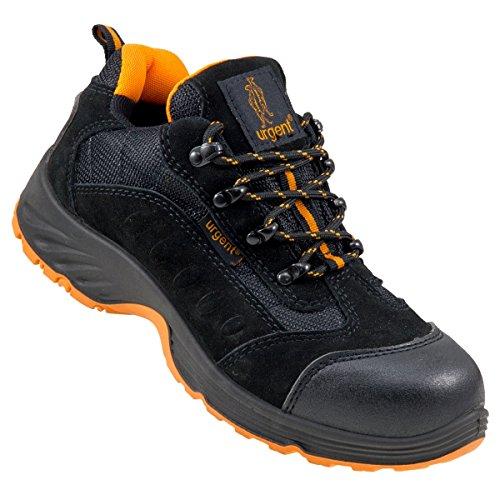 Arbeitsschuhe Sicherheitsschuhe URGENT 210 S1, Schwarz / Orange, 44 EU
