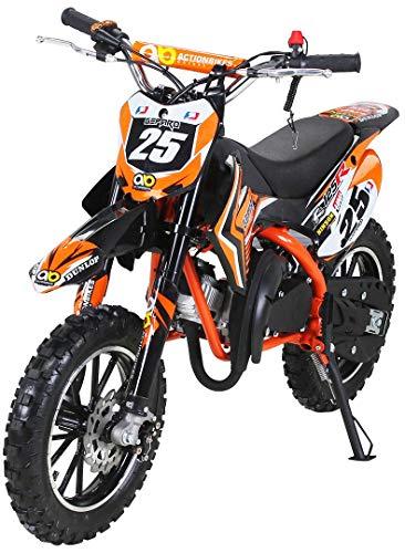 Actionbikes Motors Mini Kinder Crossbike Gepard 49 cc - Scheibenbremsen - Sportluftfilter - Sportauspuff -...