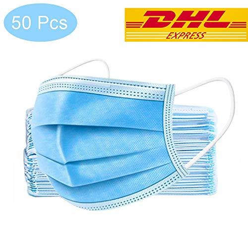 Disposable Masks Gesichtsmaske mit Ohrschlaufen, 3 Schichten Masken, Einwegmaske Mundschutzmasken, Cup Masken,...