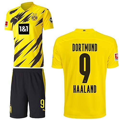 PUMA Borussia Dortmund BVB Heimset 2020 2021 Home Kit Sponsor BL Logo Kinder Erling Haaland 9 Gr 152