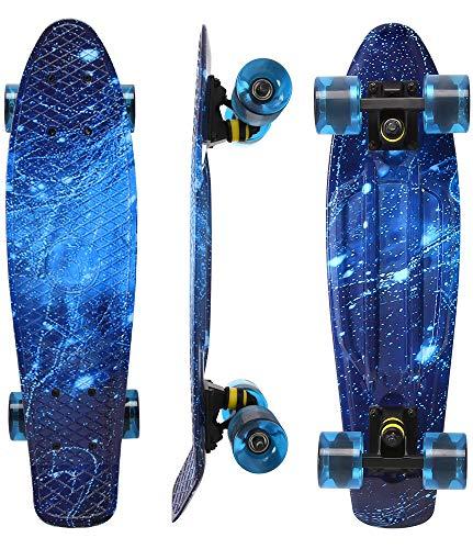 WonderTech 55 cm Skateboard Kinder Penny Board Mini Cruiser für Jungen und Mädchen