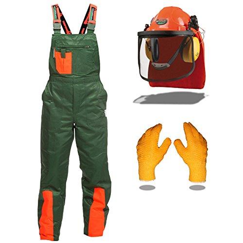 Schnittschutz Set WOODSafe® mit Schnittschutzhose Klasse 1, kwf geprüft, Form A, Forsthelm, Gehörschutz,...