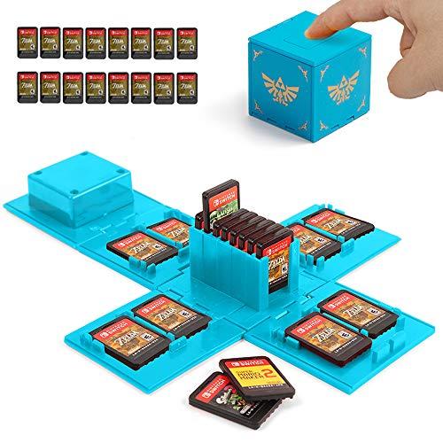 Etui Kompatibel Für Nintendo Switch - Passend für bis zu 16Nintendo Switch Spiele Aufbewahrungssystem...