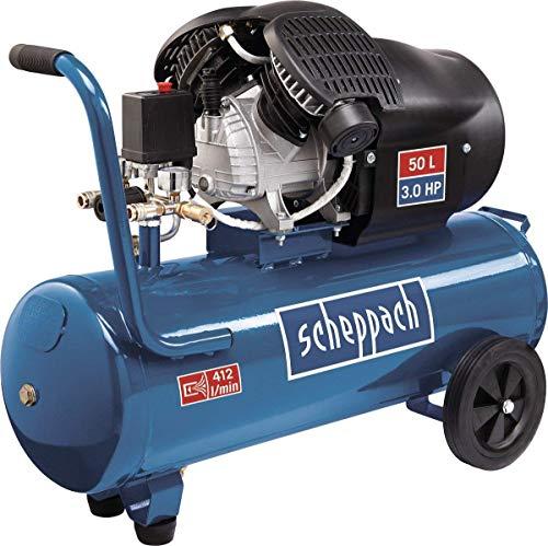 Scheppach Kompressor HC53DC (2200 Watt, 50 L, 10 bar, Ansaugleistung 412L/min, Druckminderer, ölgeschmiert,...