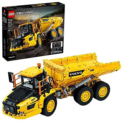 LEGO 42114 Technic Knickgelenkter Volvo-Dumper (6x6), ferngesteuertes Auto, Konstruktionsfahrzeug für Kinder...