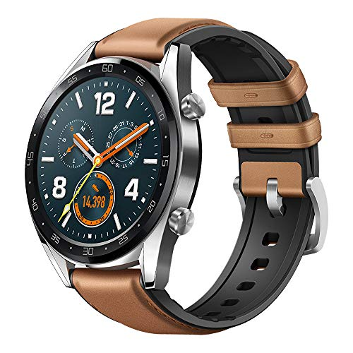 Huawei Watch GT Classic Smartwatch (46 mm Amoled Touchscreen, GPS, Fitness Tracker, Herzfrequenzmessung, 5 ATM...