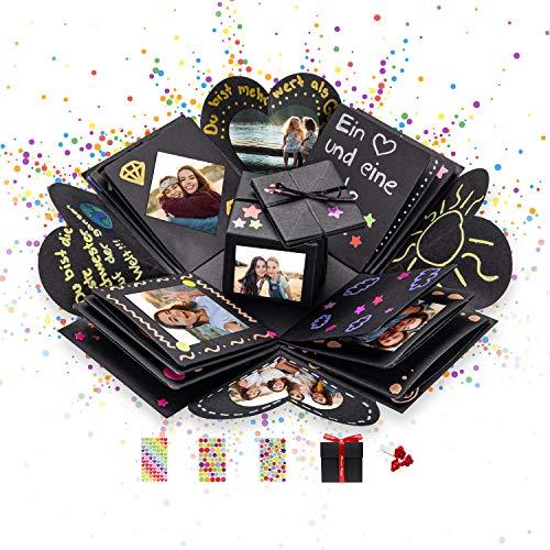 DYNOVIBE ® Kreative Geschenkbox – Überraschung Box, Explosionsbox, DIY Geschenk – Geschenkidee zum...