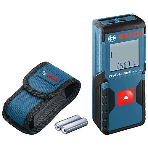 Bosch Professional Laser Entfernungsmesser GLM 30 (Ein-Knopf-Bedienung, max. Messbereich: 30 m; 2x 1,5-V...