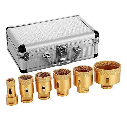 Mophorn Diamant Lochsäge 6 PCS 20/35/40/45/50/68mm Diamantbohrer-Set M14 0,8/1,4/1,6/1,8/2/2,7 inch für...