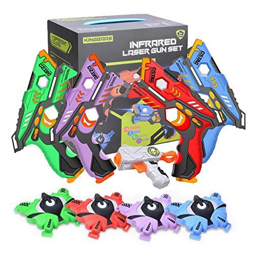 Laser Tag Set mit Westen 4er für Kinder, Laser Tag Game Mehrwaffenmodi Spielzeuglaser für Jungen und...