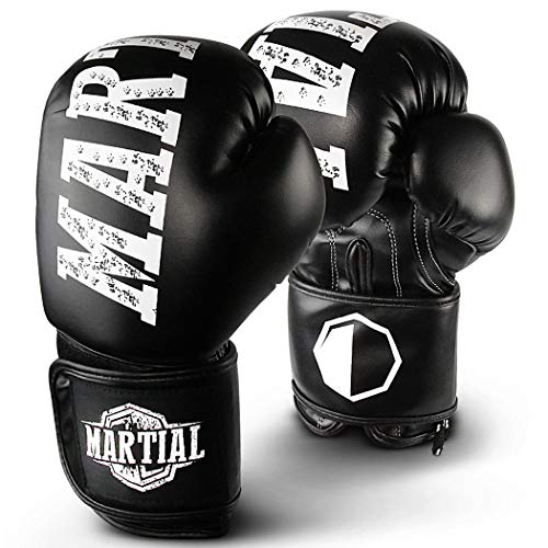 Martial Boxhandschuhe aus bestem Material für Lange Haltbarkeit! Kickboxhandschuhe für Kampfsport, MMA,...