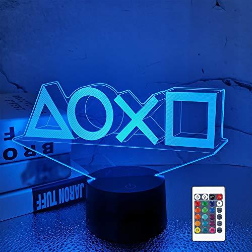 FULLOSUN Illusion-Nachtlicht 3D,LED-Tisch-Lampen, 16 Farben USB-Lade, die Schlafzimmer-Dekoration für Kinder...