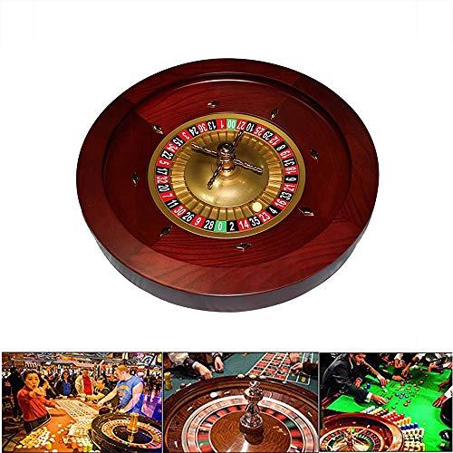 YUSDP 18-Zoll Deluxe Grade Casino Roulette-Rad-Heavy Massivholz, mit 2 Kugeln, Vintage Spiral Cross Design...