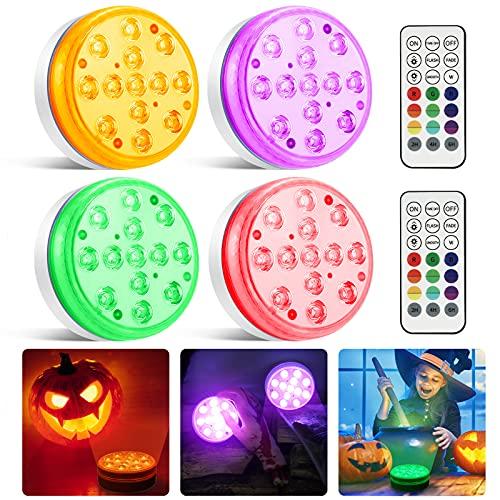 Moxled Halloween Deko Lichterkette, 13 LED Poolbeleuchtung Unterwasser Magnetische mit Fernbedienung,...