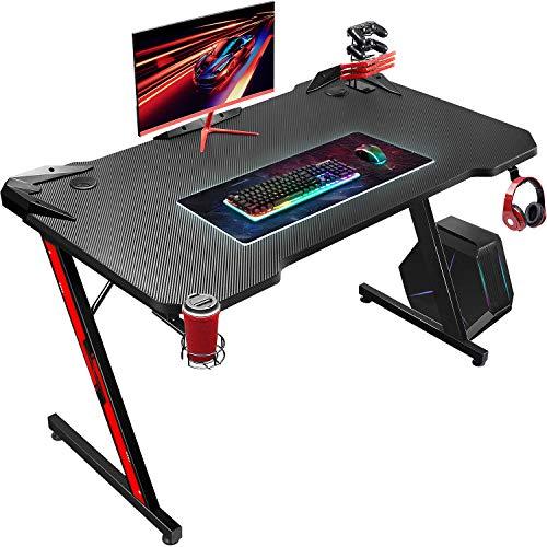 JUMMICO Gaming Schreibtisch Computertisch Pc Gamer Tisch Ergonomischer Computer Schreibtisch Home Office...