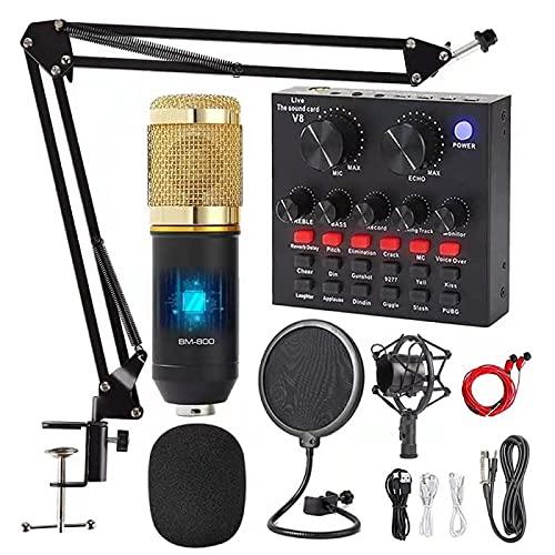 Streaming Mikrofon Set, MOSING Streaming-Equipment-Set mit Streaming Mischpult und Kondensatormikrofon, PC...
