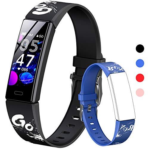 HOFIT Fitness Tracker, Aktivitäts-Tracker mit Schrittzählern, Herzfrequenz- und Schlafmonitor, Stoppuhr,...