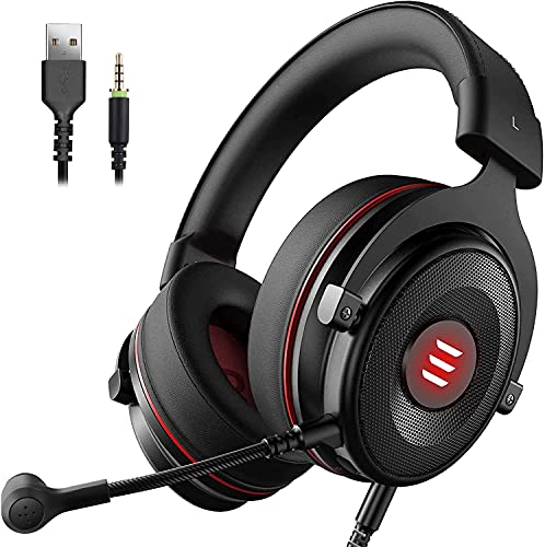 EKSA E900 Pro USB Gaming Headset für PC - PS4 Headphones mit Noise Cancelling Mic, 7.1 Surround Sound - 3.5...