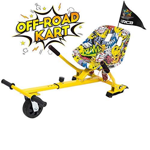 GeekMe Hoverboard Sitz,Hoverkart,Off-Road hoverkart,Hoverboard Sitz mit Stoßdämpfung,Hoverkart passend für...