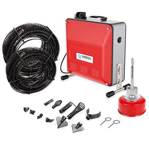 Anbull 850W elektrische Rohrreinigungsmaschine,230V Rohrreiniger,...