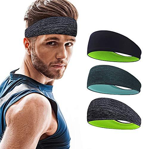 Roysmart Sport Stirnband, Schweißband Anti Rutsch für Jogging, Laufen, Wandern, Fahrrad - Stirnbänder für...