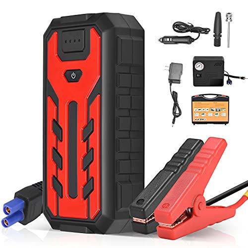 Starthilfe Powerbank 600A 12V Tragbarer Auto-Starthilfe 28000mAh UltraSafe Autobatterie Booster Ladegerät...